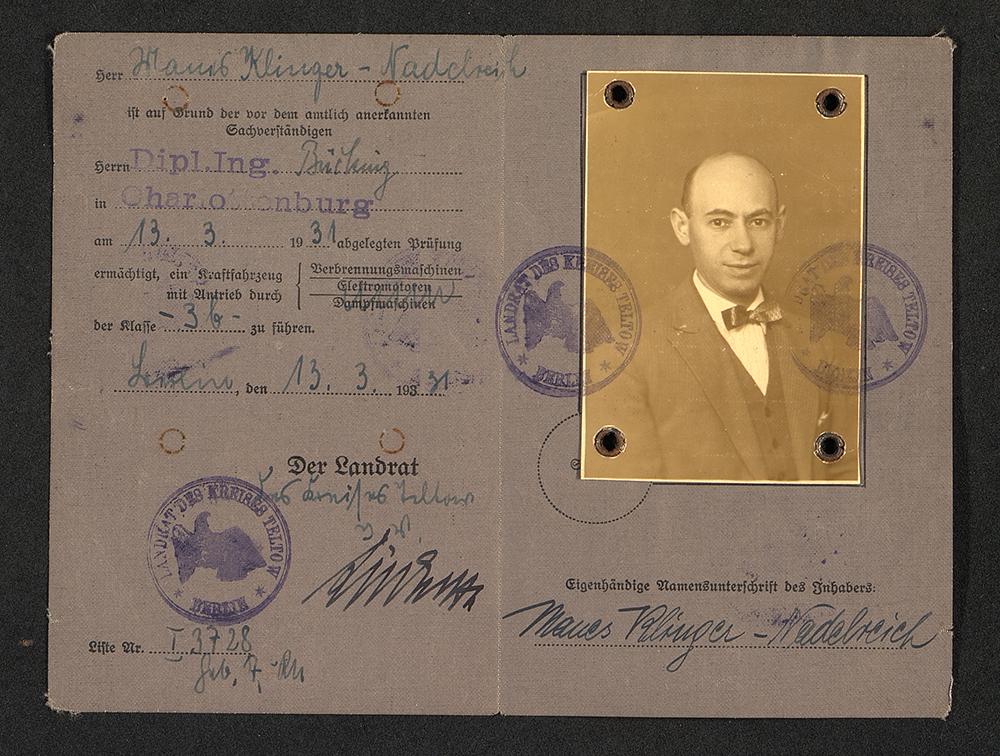 Document van Manes Klinger